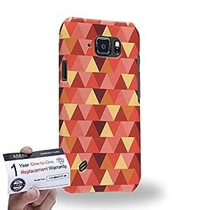 Case88 [Samsung Galaxy S6 Active] 3D impresa Carcasa/Funda dura para & Tarjeta de garantía - Art Fashion Vermilion Geometric Aztec Camo