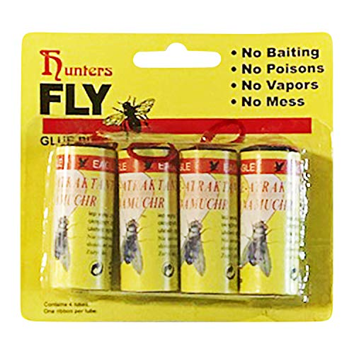 24 PCS Hunters Fly Trap , Fly Trap Tape, Fly Paper Strips , Fly Catcher Trap, Fly Ribbon, Fly Bait,Fly Catcher Ribbon