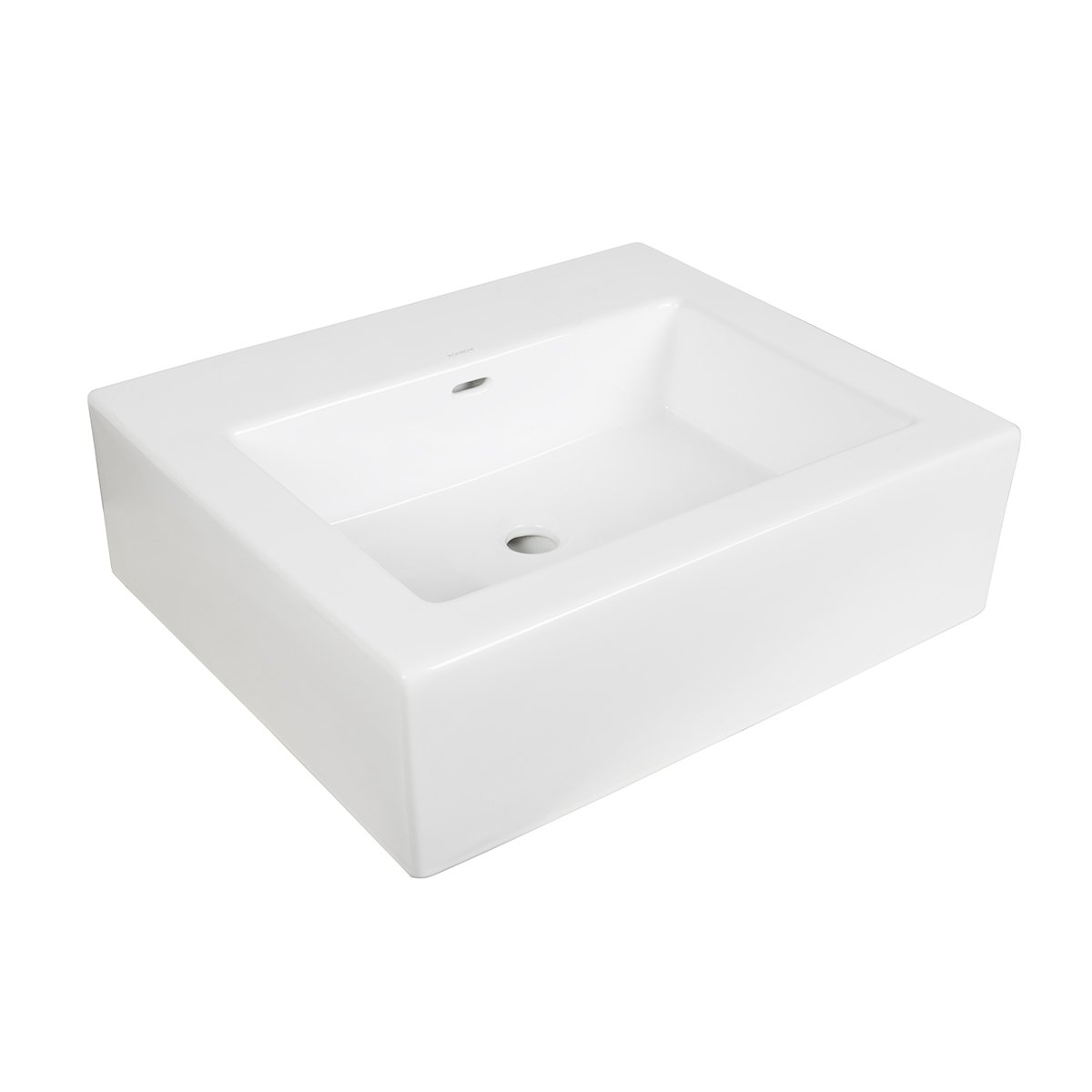Ronbow Essentials 24'' Ceramic Lav Top W/Integrated Sink (No Faucet Hole) - White 217724-0-WH
