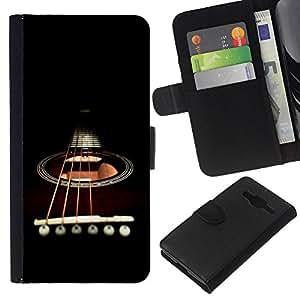 EJOY---La carpeta del tirón la caja de cuero de alta calidad de la PU Caso protector / Samsung Galaxy Core Prime / --Minimalista Guitarra y Cuerdas
