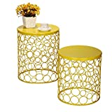 Joveco Bubble Pattern Metal/ Iron Wire Structure Stool/ End Table/ Side Table/ Coffee Table/ Sofa Table Review