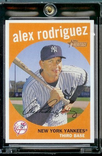 (2008 Topps Heritage # 10 Alex Rodriguez - New York Yankees - MLB Baseball Trading)