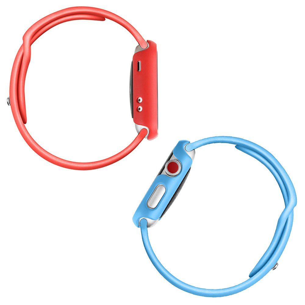 [3 Color Pack] Fintie for Apple Watch Case 38mm, Slim Lightweight Polycarbonate Hard Protective Bumper Cover for All Versions 38mm iWatch Series 3 (2017), Series 2 1 Sport & Edition - Multi Color C by Fintie (Image #8)