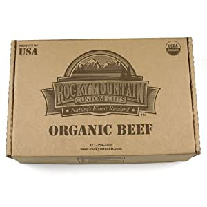 Contains 10 - 1 lb. Lean Grass Fed Organic Ground Beef