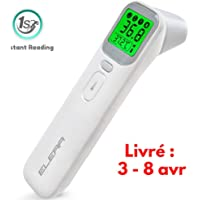 Baby Ear Forehead Digital Thermometer, ELERA Instant Read Thermometer Care Health of Infants, Toddlers and Adults, 4 Backlight Mode & Heat Warning, CE Approved, with Drawstring Bag, Battery Include
