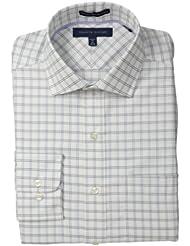 (新品)Tommy Hilfiger 汤米 希尔费格 免熨烫 长袖 衬衫 白格色 $51.50 Regular Fit