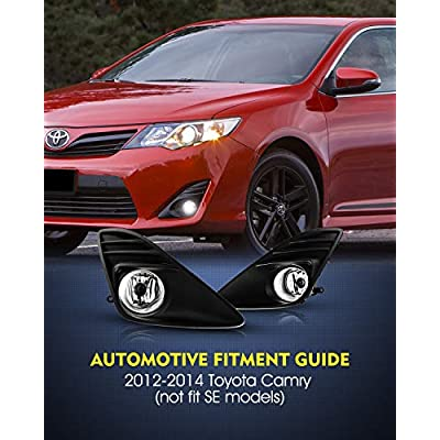 Fog Lights for 2012-2014 Toyota Camry (Not fit SE models) 2PCS OEM Replacement Fog Lamps AUTOWIKI: Automotive