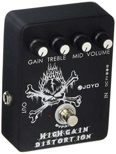 Death Distortion Pedal - Joyo JF-04 High Gain Distortion, Guitar FX Pedal with Mid EQ