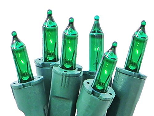Bethlehem Lighting GKI Perm-O-Snap Mini Christmas Lights with Green Wire, Set of 50