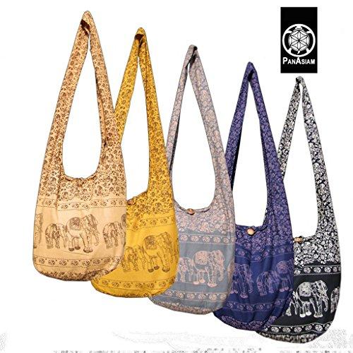 panaisam hombro bolsa, aquí en 2tamaños, 2elefante Diseño & muchos colores, con extra Interior Plástico y teléfono móvil–Bolsillo Interior, calidad 1A V schwarz