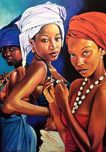 (Flowers Of Africa II (Ladies) - Alix Beaujour 24x36 Unframed - African American Black Art Print Wall Decor Poster #9J23)