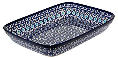 Polish Pottery Baking Dish 8 Inch X 10 Inch From Zaklady Ceramiczne Boleslawiec 370-217a Classic Pattern by Polish Pottery Market