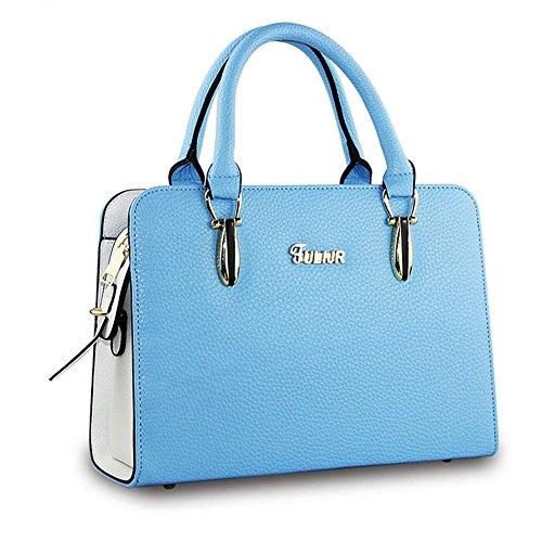 DELEY Mujeres Encanto OL Bolsa Maletín Totalizador Bolso Bolso Del Hombro Handbag Mensajero Bolsos Azul