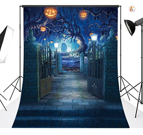 LB 5x7ft Halloween Vinyl Photography Backdrop Customized Photo Background Studio Prop -