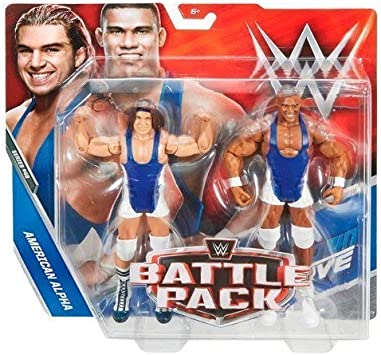 WWE Mattel Battle Pack Serie 48 Americano Alpha Acción Figura de Lucha Figruine - el Americano Alpha 2 - Paquete Doble Básico: Amazon.es: Juguetes y juegos