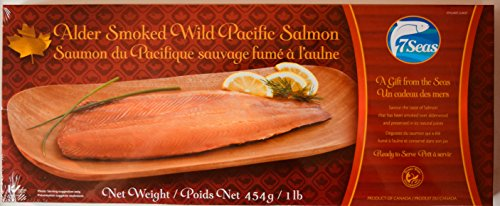 Smoked Pacific Salmon - Premium Wild Caught Pacific Smoked Salmon - 1lb / 16 Ounces. Kosher Certified. Smoked Over Alderwood