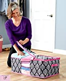 fearfullymade Pink Black Oversized Organizing Clothing Storage Bags great for bathrooms or bedroom organization