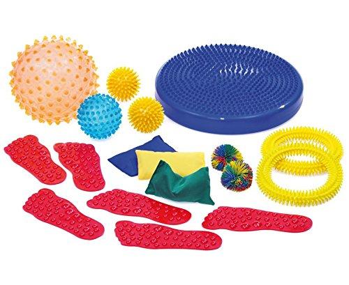Betzold Sensorik-Set 18 tlg, Sensibilisierung der Sinne, Entspannungsübungen - Sensorikbälle Therapiebälle Therapie Bälle Sensorik Sensomotorikbälle Sensomotorik Motorik motorisch Kinder Erwachsene