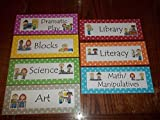 7 Laminated Learning Center Area Signs. Daycare supplies and accessories.