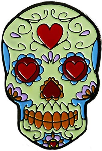 - Be The Ball 4U All Heart Dia De Los Muertos Cool Skull and Mask Designs Dawn of the Dead Golf Ball Marker and Matching Red Rose Hat Clip
