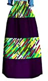 Fensajomon Womens Plus Size Summer Africa Printed Dashiki Big Hem Long Swing Skirts 6 L