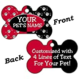 InstaPetTags Harley Quinn Custom Double Sided Pet Id Dog Tag Personalized for Your Pet