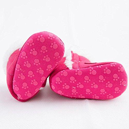 Ouneed® Krabbelschuhe , Halten Sie warme Säuglingskleinkind weiche alleinige Schnee Aufladungs Baby Krippe Schuhe Heißes Rosa