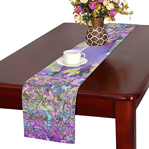 - WBSNDB Spots Blacks Purples Patterns Round Circles Table Runner, Kitchen Dining Table Runner 16 X 72 Inch for Dinner Parties, Events, Decor