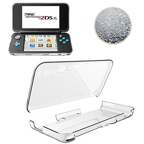 New Nintendo 2DS XL Case, TopACE Ultra Thin Transparent Soft Gel TPU Silicone Case Cover for New Nintendo 2DS XL (Clear) (Clear Silicon Case Transparent)