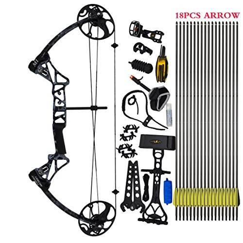 """FBA service Compound Bow Package,M1,19""""-30"""" Draw Length,19-70Lbs Draw Weight,320fps IBO"""