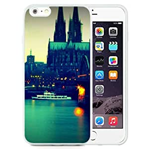 Fashionable Custom Designed iPhone 6 Plus 5.5 Inch Phone Case With Panoramic City River Ship_White Phone Case
