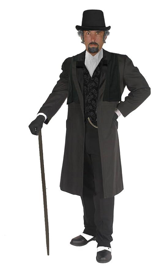 Victorian Men's Costumes: Mad Hatter, Rhet Butler, Willy Wonka Unisex Adult Ebenezer Scrooge Victorian Costume $269.97 AT vintagedancer.com