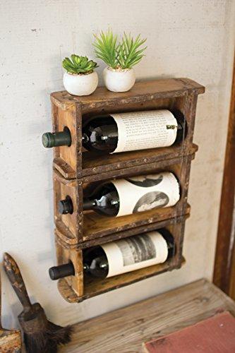 Kalalou Hanging Brick Mold Wine - Hanging Wine Caddy