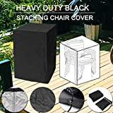 feifei 210D Durable Stackable Patio Chair Cover - All Weather Protection Outdoor Furniture Cover