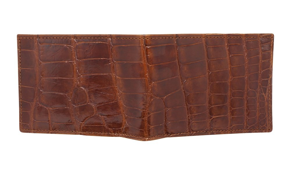 Cognac Glazed Genuine Alligator Skin Wallet for Men – American Factory Direct – Gift box – Gifts for Men – Made in USA by Real Leather Creations FBA734 TT by Real Leather Creations (Image #4)