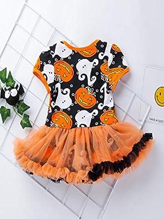 f0f02fef42007 Kehome 2pc Infant Newborn Baby Girl Halloween Party Dress Romper Tutu Skirt  Headband My First Halloween ...