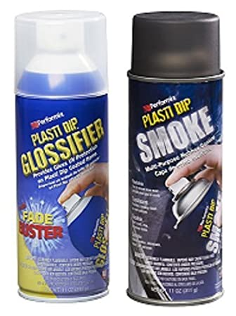 Combo Pack - Plasti Dip humo lente Spray + glossifer ml spray de aerosol: Amazon.es: Coche y moto