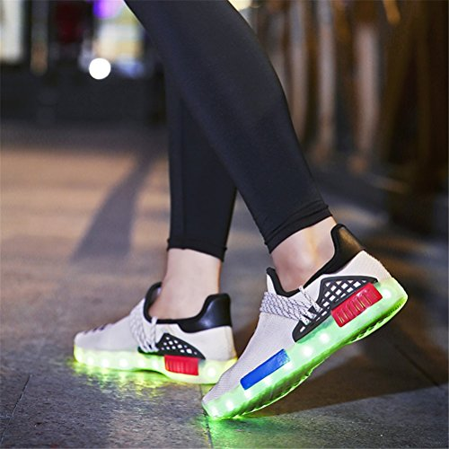 Pour 30 Bout Unisexe Tricot Chaussures Printemps Color Marche Casual Automne 30 Athlétique Sneakers Chaussures Blanc Black Blanc Pointu Chaussures Confort Extérieur Up Femmes Noir Light z7B6wq