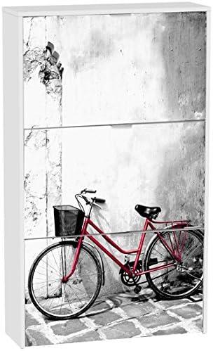 Zapatero DecoShoes Bici Roja 3 Trampones H306/3BCJ - LuxoMobel: Amazon.es: Hogar
