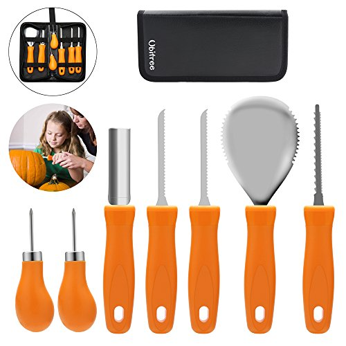 Pumpkin Carving Kit,7 Piece Pumpkin Carving Tools,Sturdy Carving