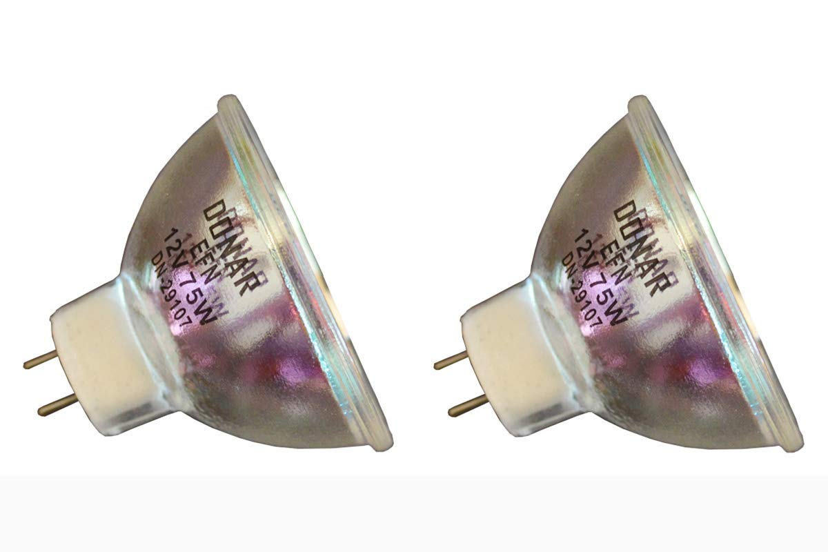 2pcs EFN 12V 75W Donar Bulb For Demetron Photo Curing Lamp 20140 20437 Dentsply Celebrity Perspective - Video Dental Concepts QuickCam DDS - TROPHY INTRA ORAL