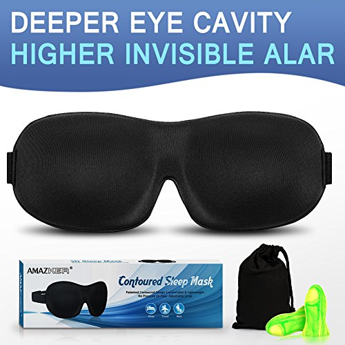 Ultra Invisiable Nose Alar Sleep Mask 3D Contoured Soft Eye Masks Adjustable Strap for A Full Night's Comfortable Sleep, Ultimate...