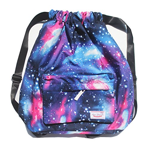 317743bd38 Dry Wet Separated Swimming Bag Floral Waterproof Drawstring Backpack ...