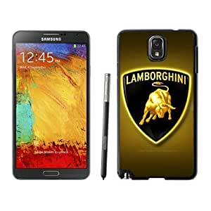 Fashion Lamborghini logo 10 For SamSung Galaxy S4 Case Cover in Black