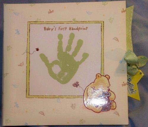 Classic Pooh Disney Keepsake Baby's First Handprint Plaster Kit. Plaster with Mint Green Display Box by Disney