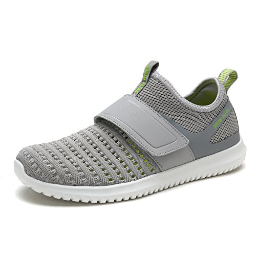 DREAM PAIRS Men's C0209_M Lt.Grey N.Green Fashion Athletic Water Shoes Sneakers Size 7.5 M (Grn Mens Sneakers)