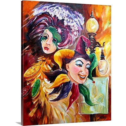 Mardi Gras Canvas Wall Art Print, = Mardi Gras Wall Decor