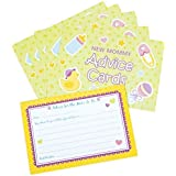"Amscan Delightful New Mommy Advice Cards Baby Shower Game Party Novelty Favors (24 Count), 3-1/2 x 5"", Multi"