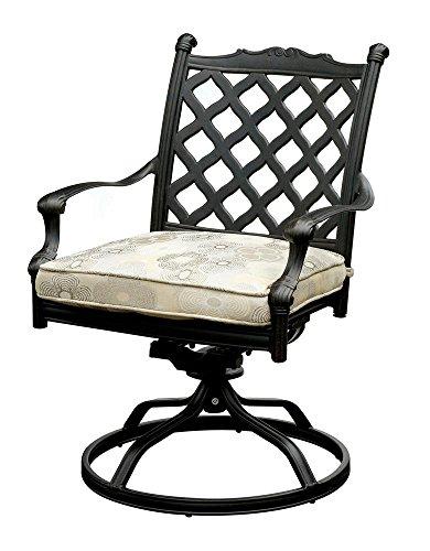 Amazon Com Fa Furnishing Vernon 2 Swivel Rocker Chair In Dark Grey