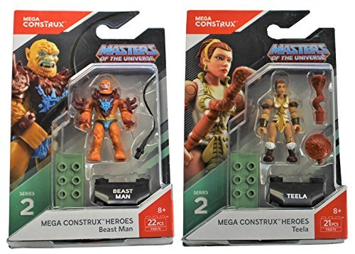 Mega Construx Heroes Series 2 Masters of the Universe: Beast Man and Teela -
